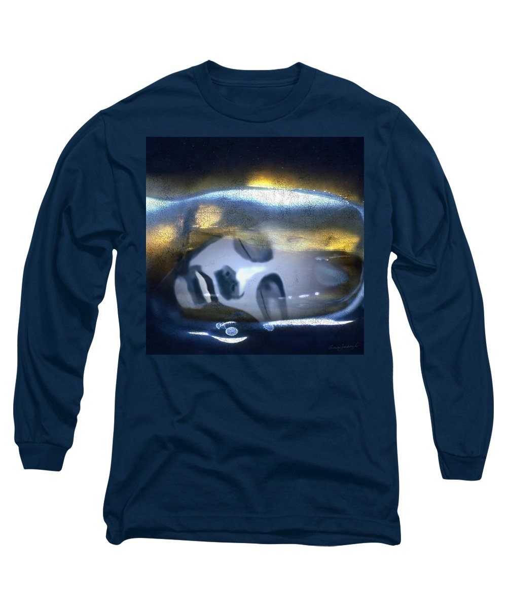 Dream Sky Universe Methaphysics Aura Afterlife Long Sleeve T-Shirt featuring the digital art The Dream by Veronica Jackson