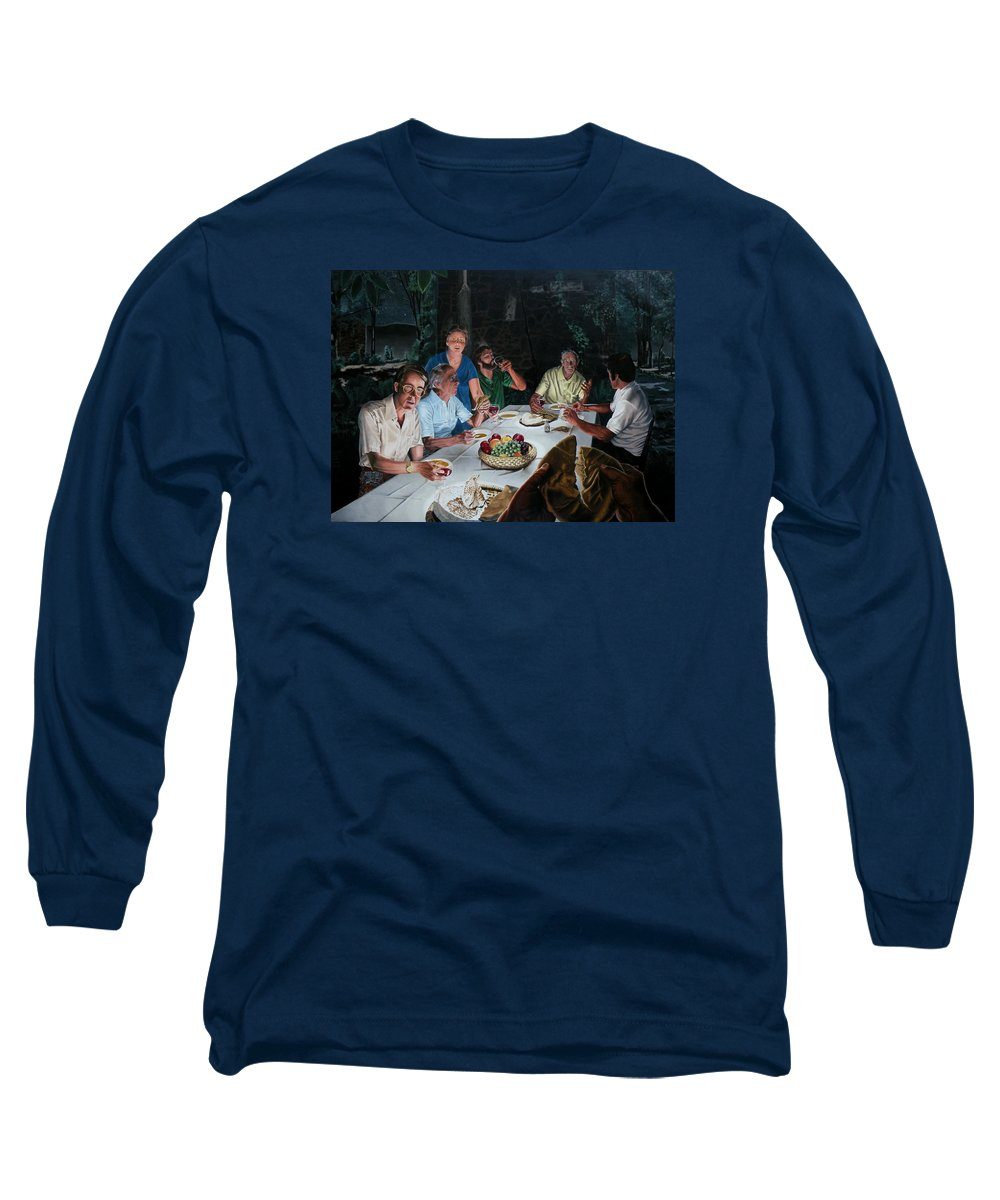 Last Supper Long Sleeve T-Shirt featuring the painting The Last Supper by Dave Martsolf