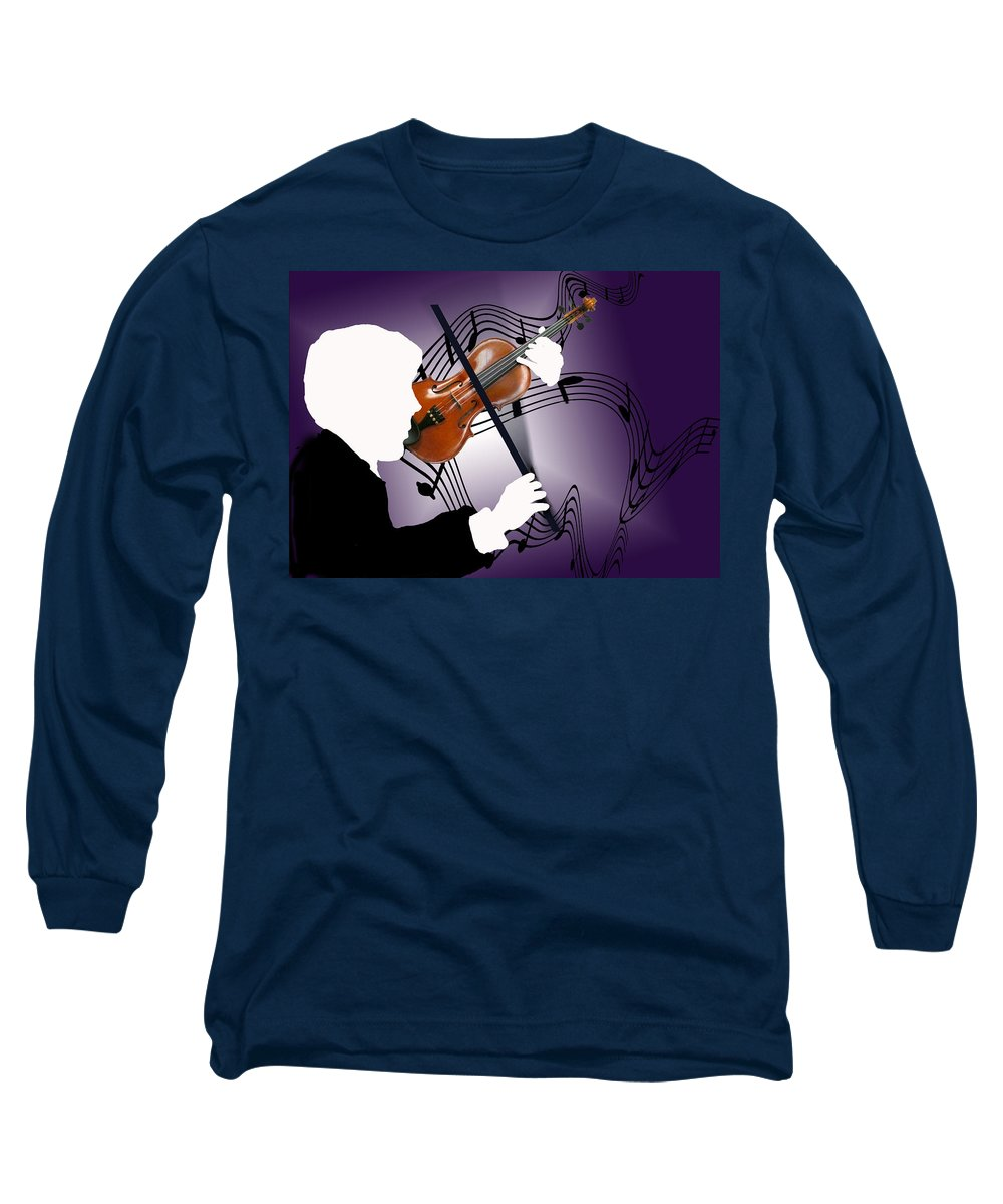 Violin Long Sleeve T-Shirt featuring the digital art The Soloist by Steve Karol