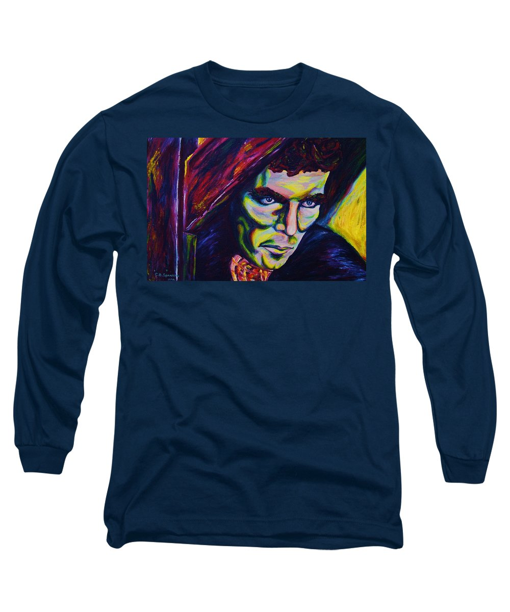 Portraits Long Sleeve T-Shirt featuring the painting The Vampire Lestat by Carole Spandau