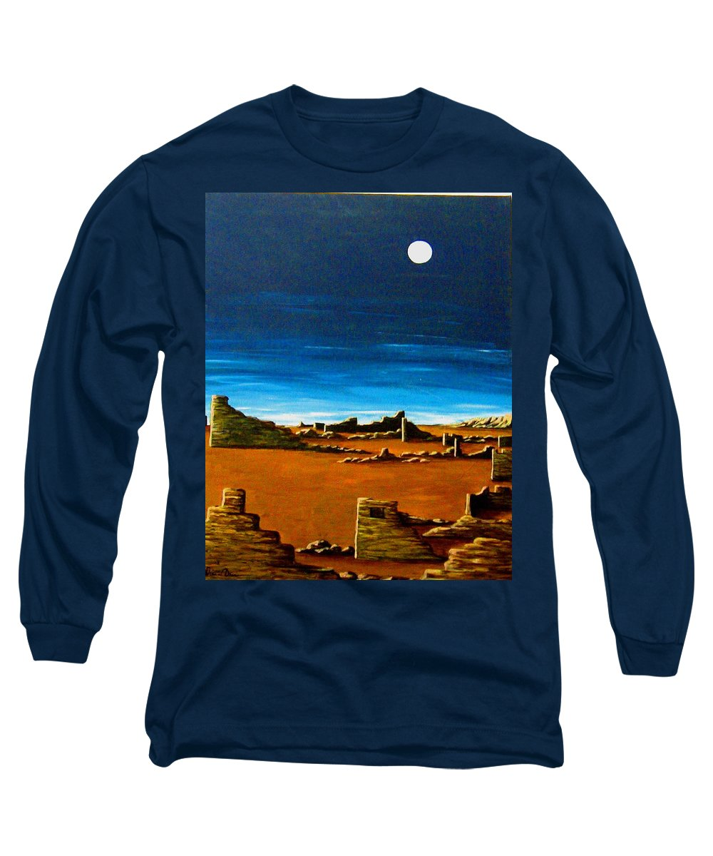 Anasazi Long Sleeve T-Shirt featuring the painting Timeless by Diana Dearen