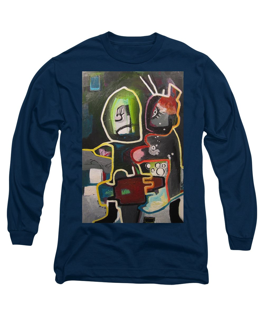 Couple Paintings Long Sleeve T-Shirt featuring the painting To Get Along by Seon-Jeong Kim