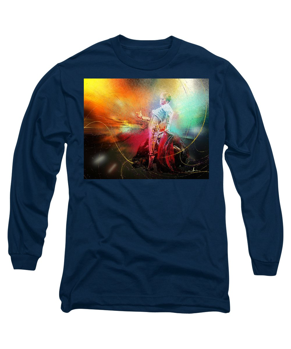 Animals Long Sleeve T-Shirt featuring the painting Toroscape 25 by Miki De Goodaboom