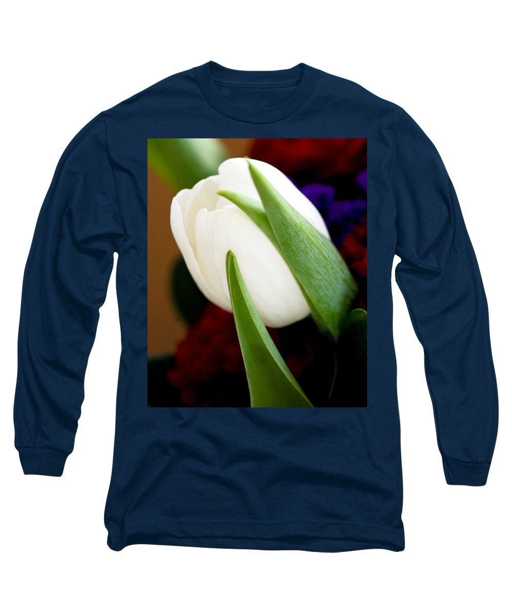 Floral Long Sleeve T-Shirt featuring the photograph Tulip Arrangement 4 by Marilyn Hunt