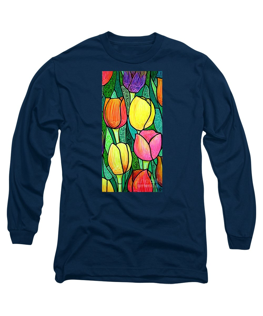 Tulips Long Sleeve T-Shirt featuring the painting Tulip Expo by Jim Harris