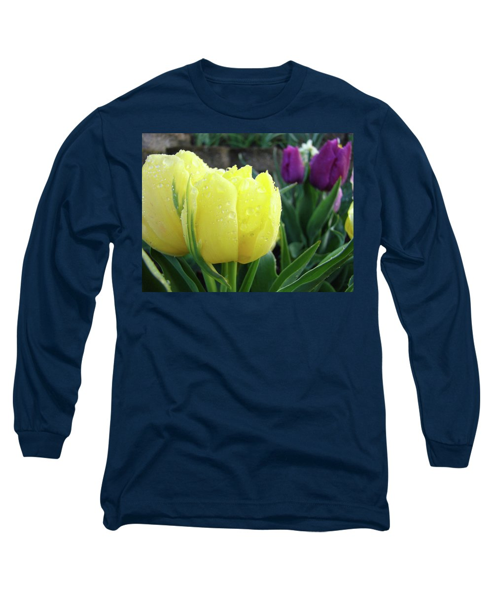�tulips Artwork� Long Sleeve T-Shirt featuring the photograph Tulip Flowers Artwork Tulips Art Prints 10 Floral Art Gardens Baslee Troutman by Baslee Troutman