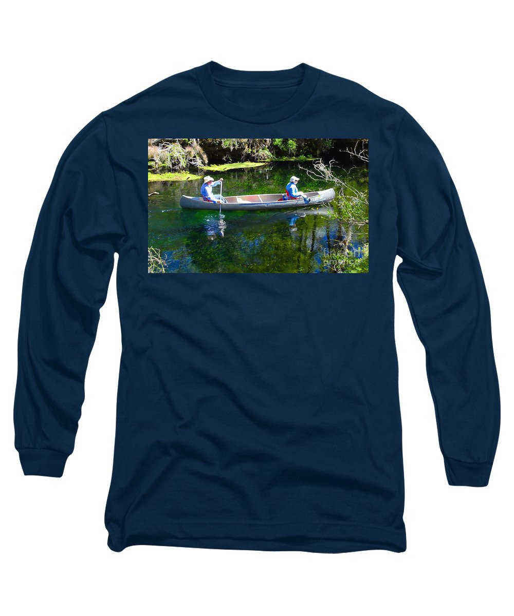 Canoe Long Sleeve T-Shirt featuring the photograph Two In A Canoe by David Lee Thompson