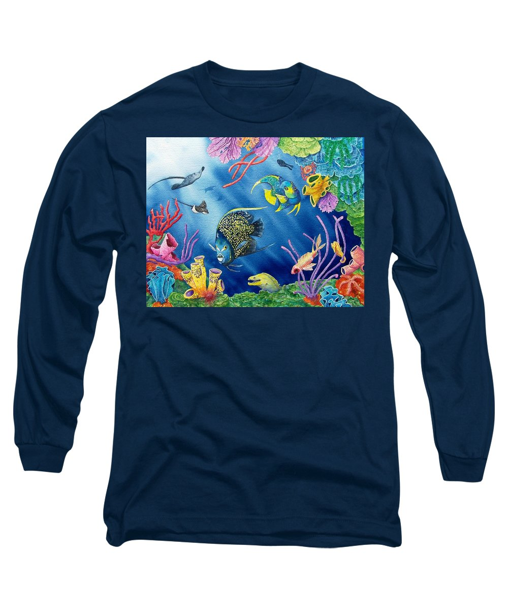 Undersea Long Sleeve T-Shirt featuring the painting Undersea Garden by Gale Cochran-Smith