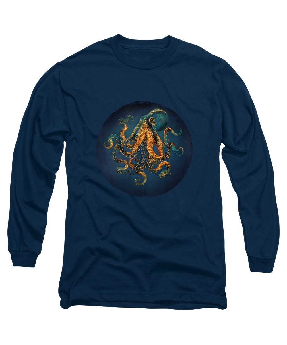 Water Long Sleeve T-Shirt featuring the digital art Underwater Dream Iv by Spacefrog Designs