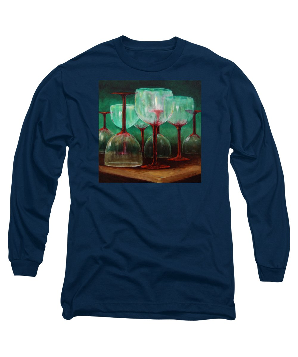 Oil Long Sleeve T-Shirt featuring the painting Upsidedown by Linda Hiller