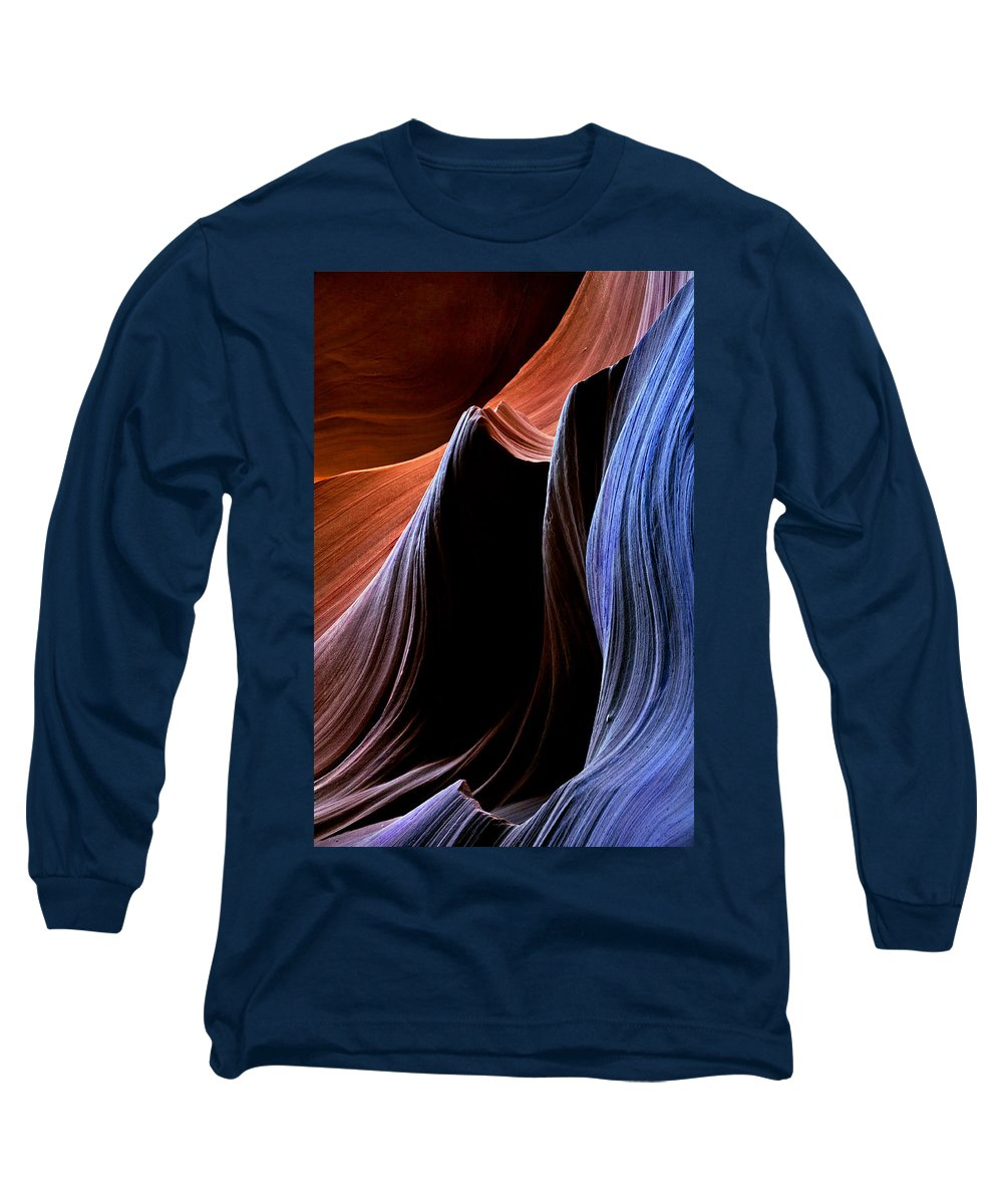 Sandstone Long Sleeve T-Shirt featuring the photograph Waves by Mike Dawson
