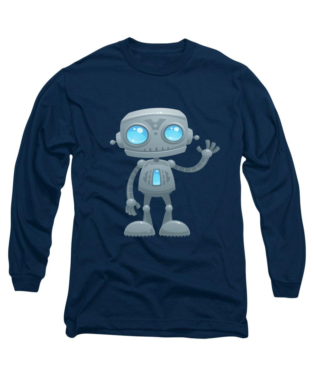 Hello Digital Art Long Sleeve T-Shirts