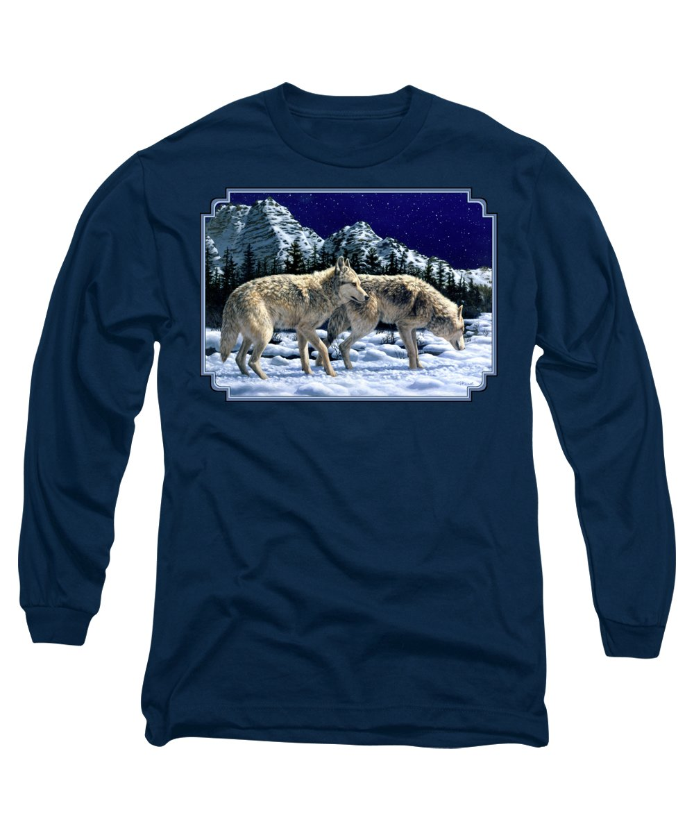 Wolf Long Sleeve T-Shirts