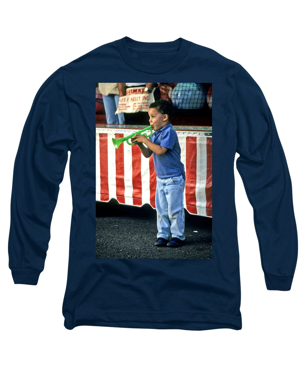 Young Musician Long Sleeve T-Shirt featuring the photograph Young Musician by Laurie Paci