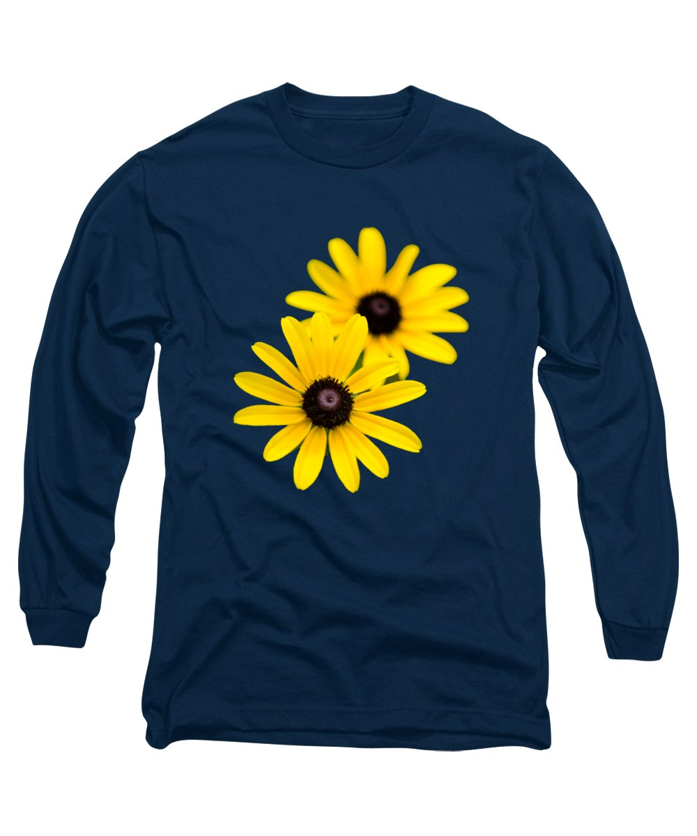 Black Eyed Susan Long Sleeve T-Shirt featuring the photograph Black Eyed Susans by Christina Rollo