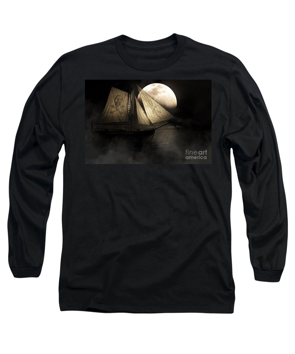 Black Long Sleeve T-Shirt featuring the photograph Ghost Ship by Jorgo Photography - Wall Art Gallery