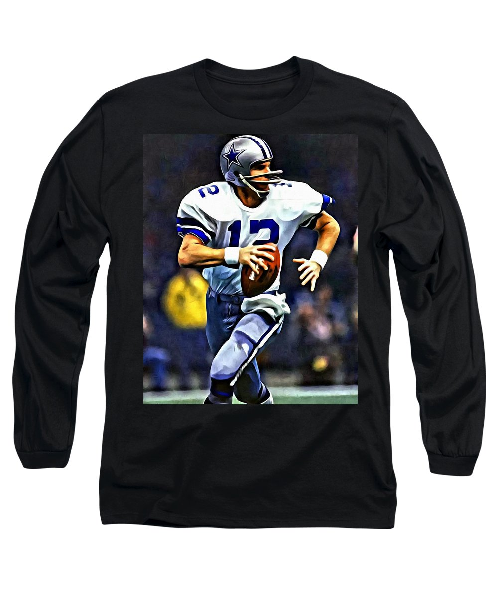 finest selection 83047 97ad8 Roger Staubach Long Sleeve T-Shirt