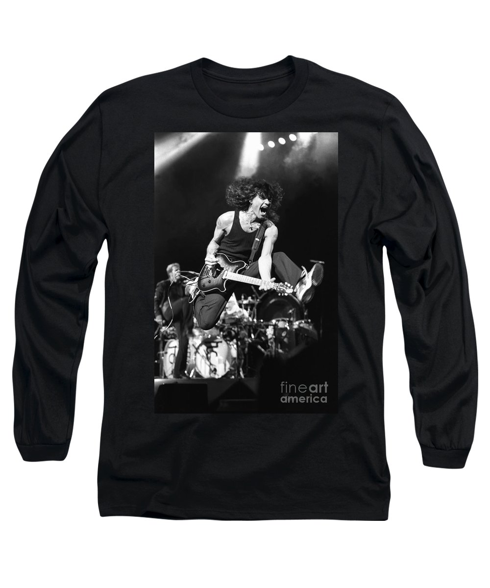 f39cd9482 Eddie Van Halen Long Sleeve T-Shirt featuring the photograph Van Halen - Eddie  Van
