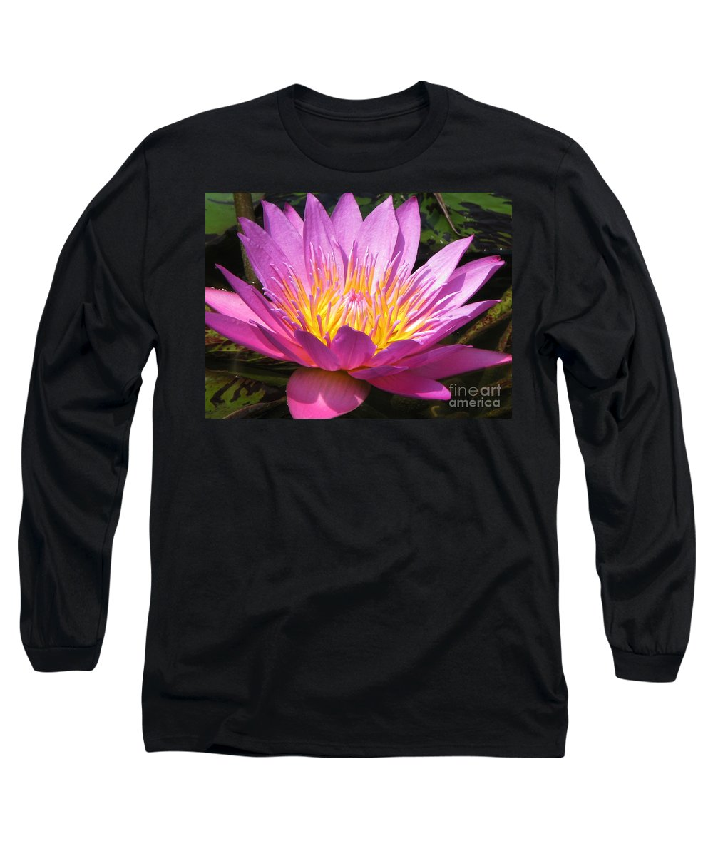 Lilly Long Sleeve T-Shirt featuring the photograph It by Amanda Barcon