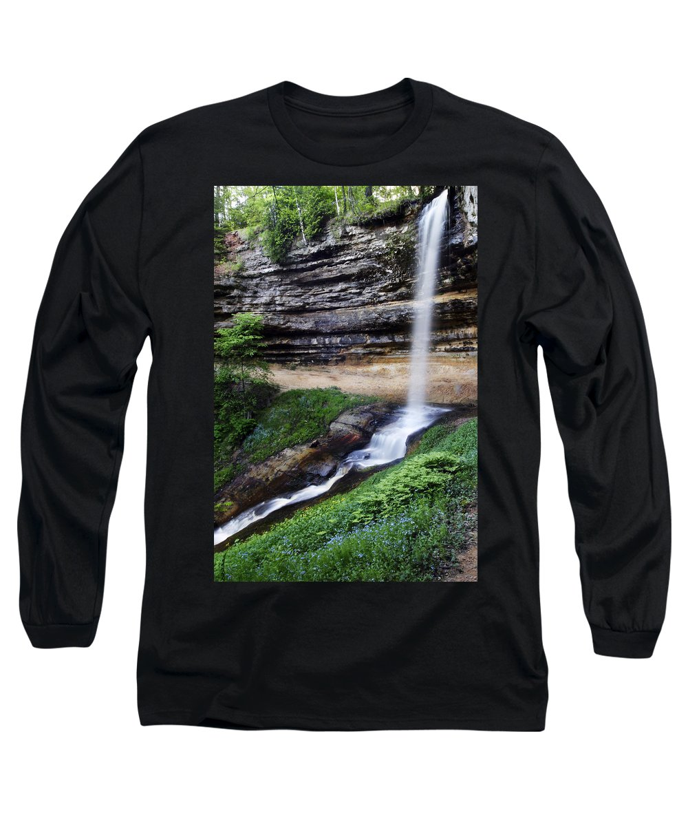 3scape Photos Long Sleeve T-Shirt featuring the photograph Munising Falls by Adam Romanowicz