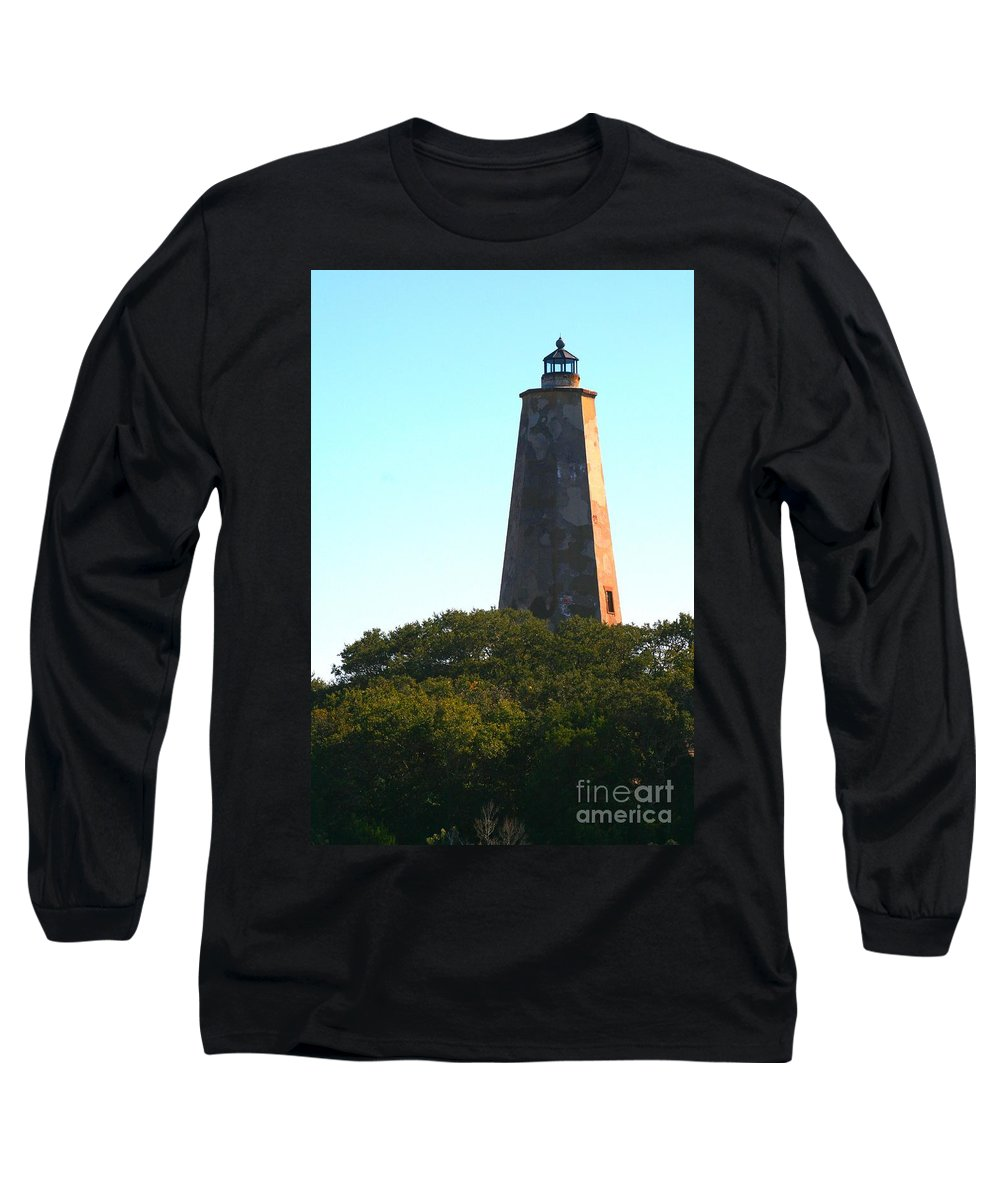 Lighthouse Long Sleeve T-Shirt featuring the photograph The Lighthouse by Nadine Rippelmeyer