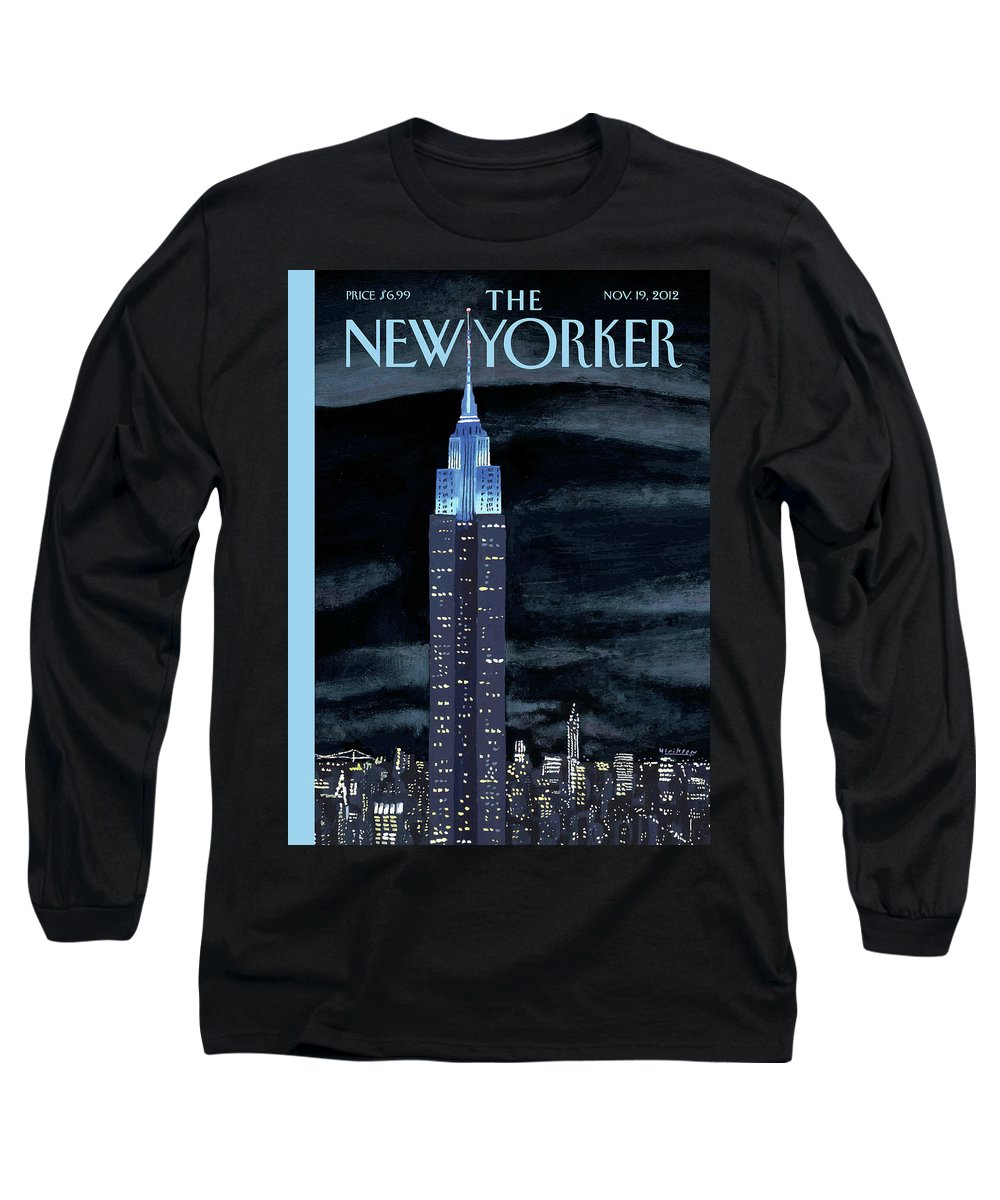 New York City Long Sleeve T-Shirt featuring the painting New Yorker November 19th, 2012 by Mark Ulriksen
