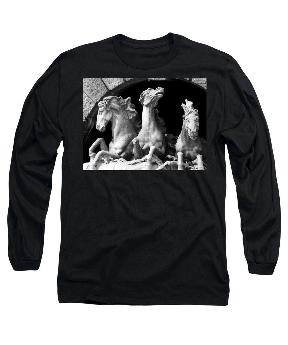 Sculpture Long Sleeve T-Shirt featuring the pyrography Almost Perfect by RC DeWinter
