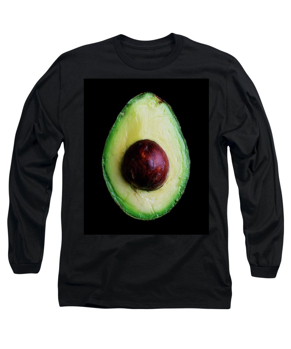 Fruits Long Sleeve T-Shirt featuring the photograph An Avocado by Romulo Yanes