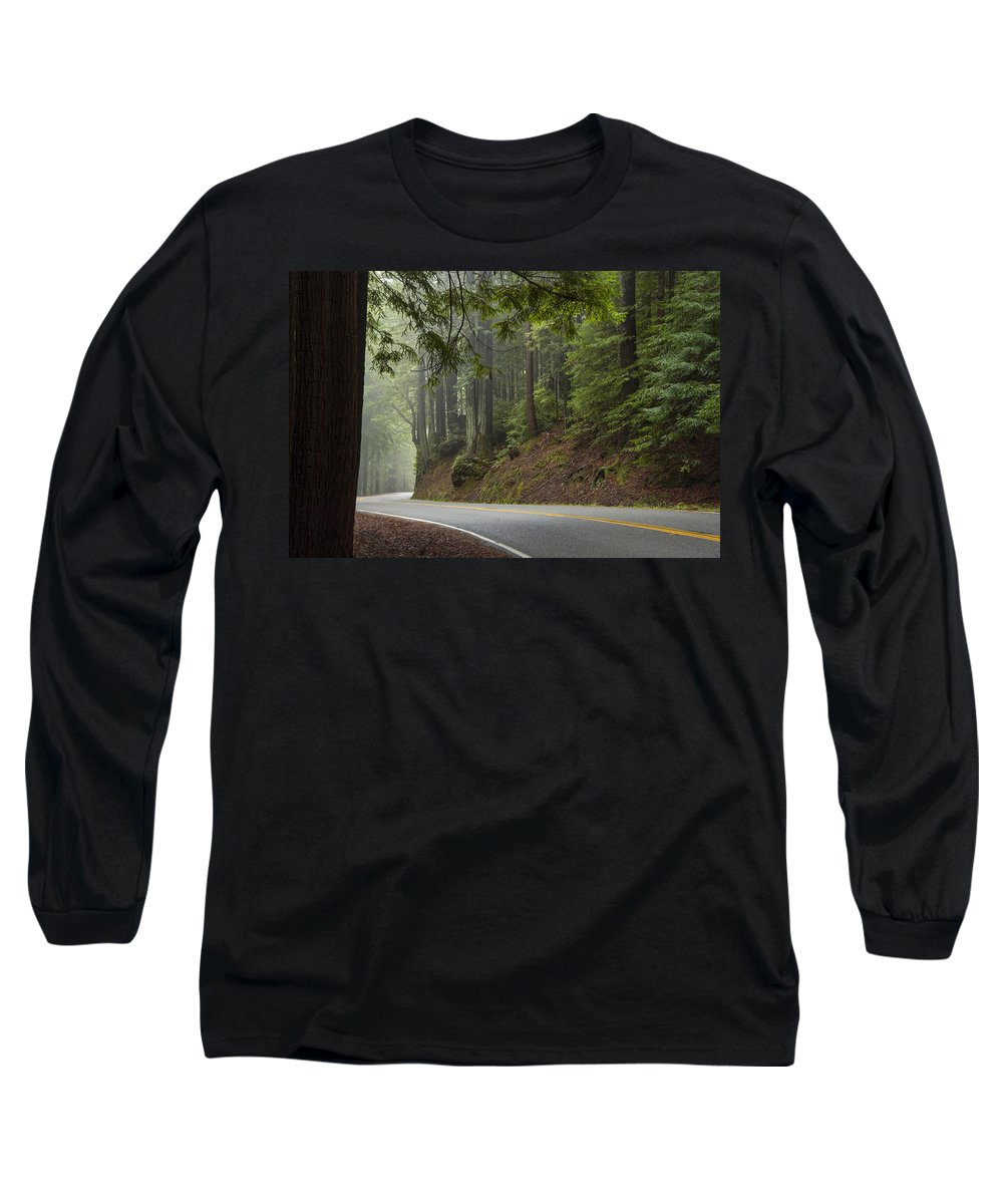 California Long Sleeve T-Shirt featuring the photograph Around The Bend by Dustin LeFevre