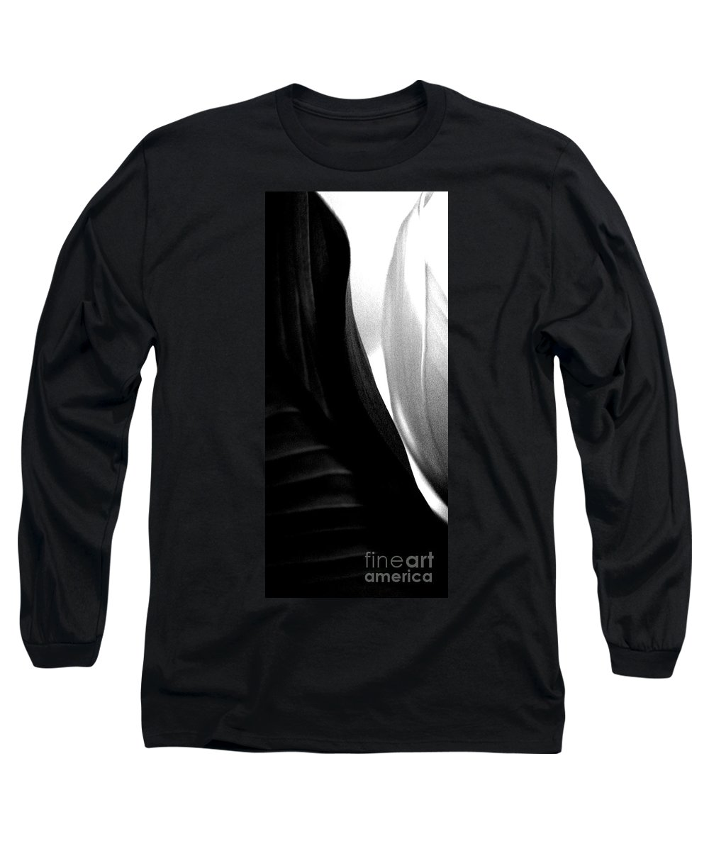 black And White Prints Long Sleeve T-Shirt featuring the photograph Balance by Amanda Barcon
