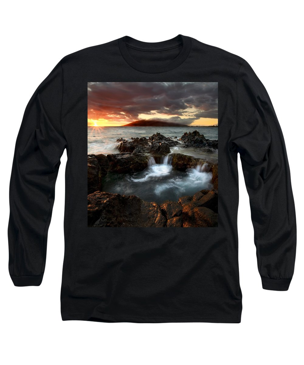 Sunset Long Sleeve T-Shirt featuring the photograph Bubbling Cauldron by Mike Dawson