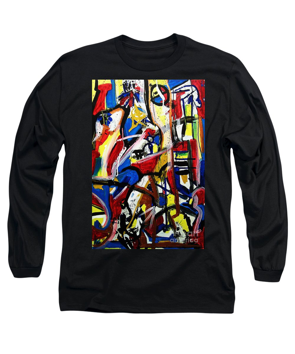 Painting Long Sleeve T-Shirt featuring the painting Catharsis by Jeff Barrett