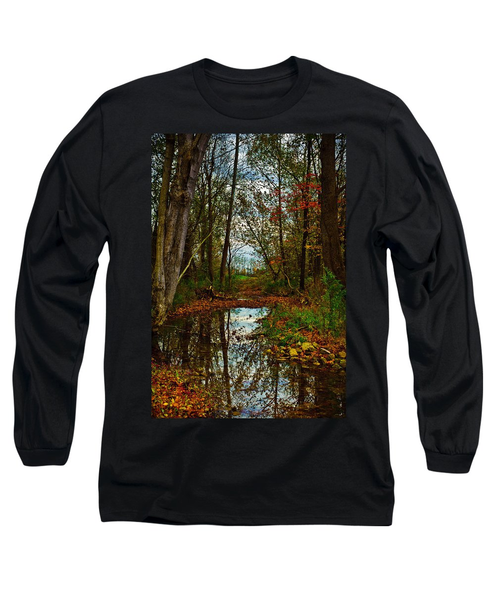 Landscape Long Sleeve T-Shirt featuring the photograph Colors Of Fall by Kristi Swift