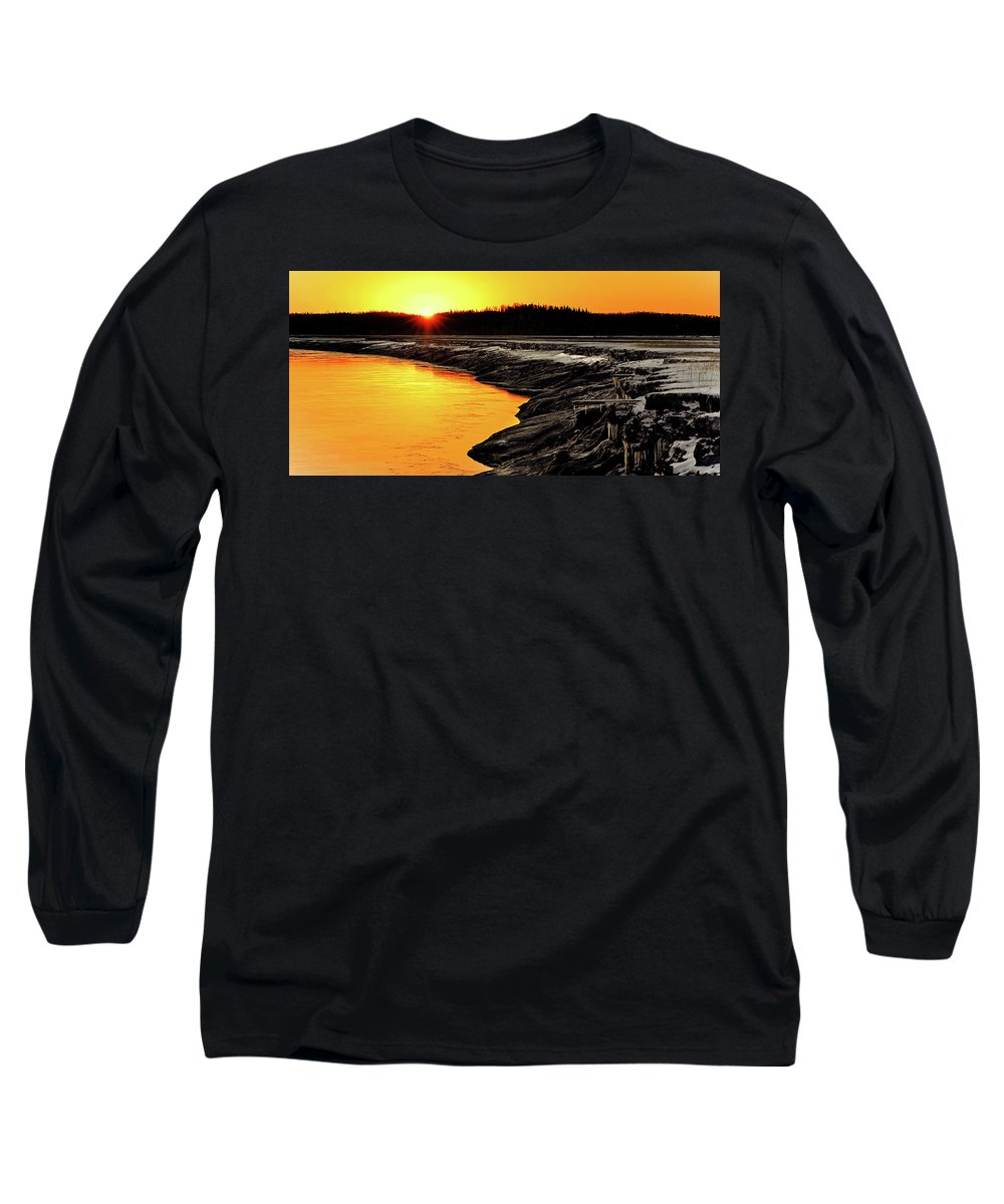 Alaska Long Sleeve T-Shirt featuring the photograph Contrasts In Nature by Ron Day