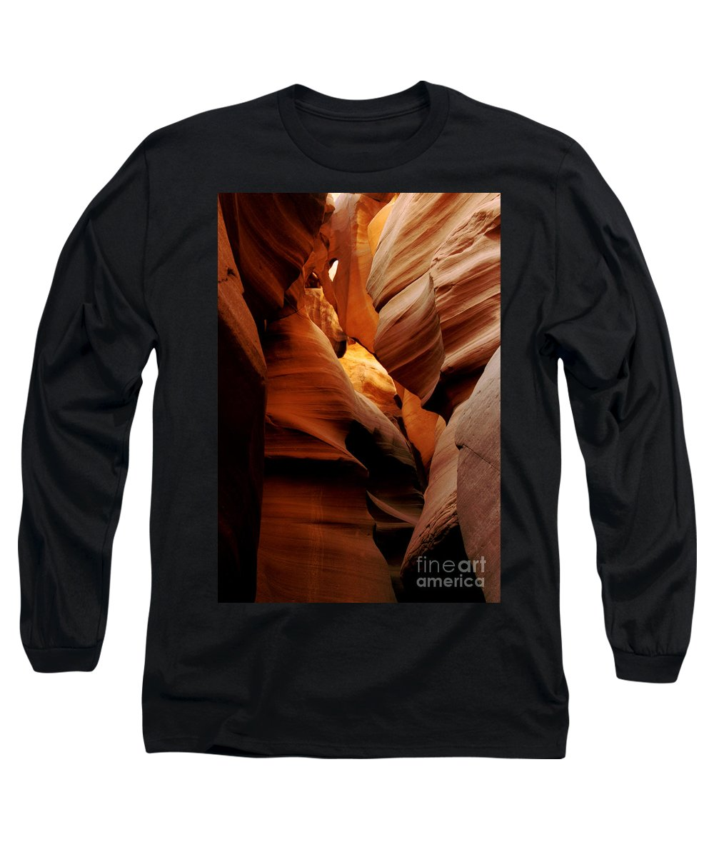 Antelope Canyon Long Sleeve T-Shirt featuring the photograph Convolusions by Kathy McClure