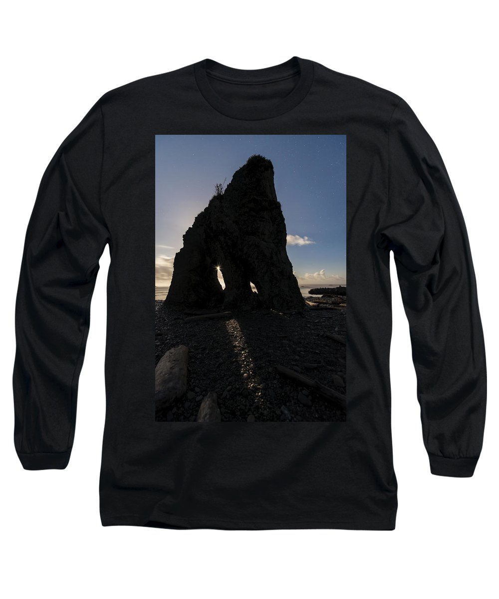 Washington Long Sleeve T-Shirt featuring the photograph Dark Knight by Dustin LeFevre