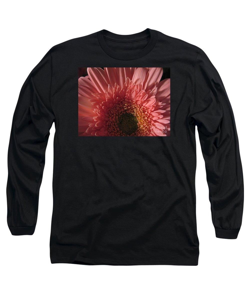 Flower Long Sleeve T-Shirt featuring the photograph Dark Radiance by Ann Horn