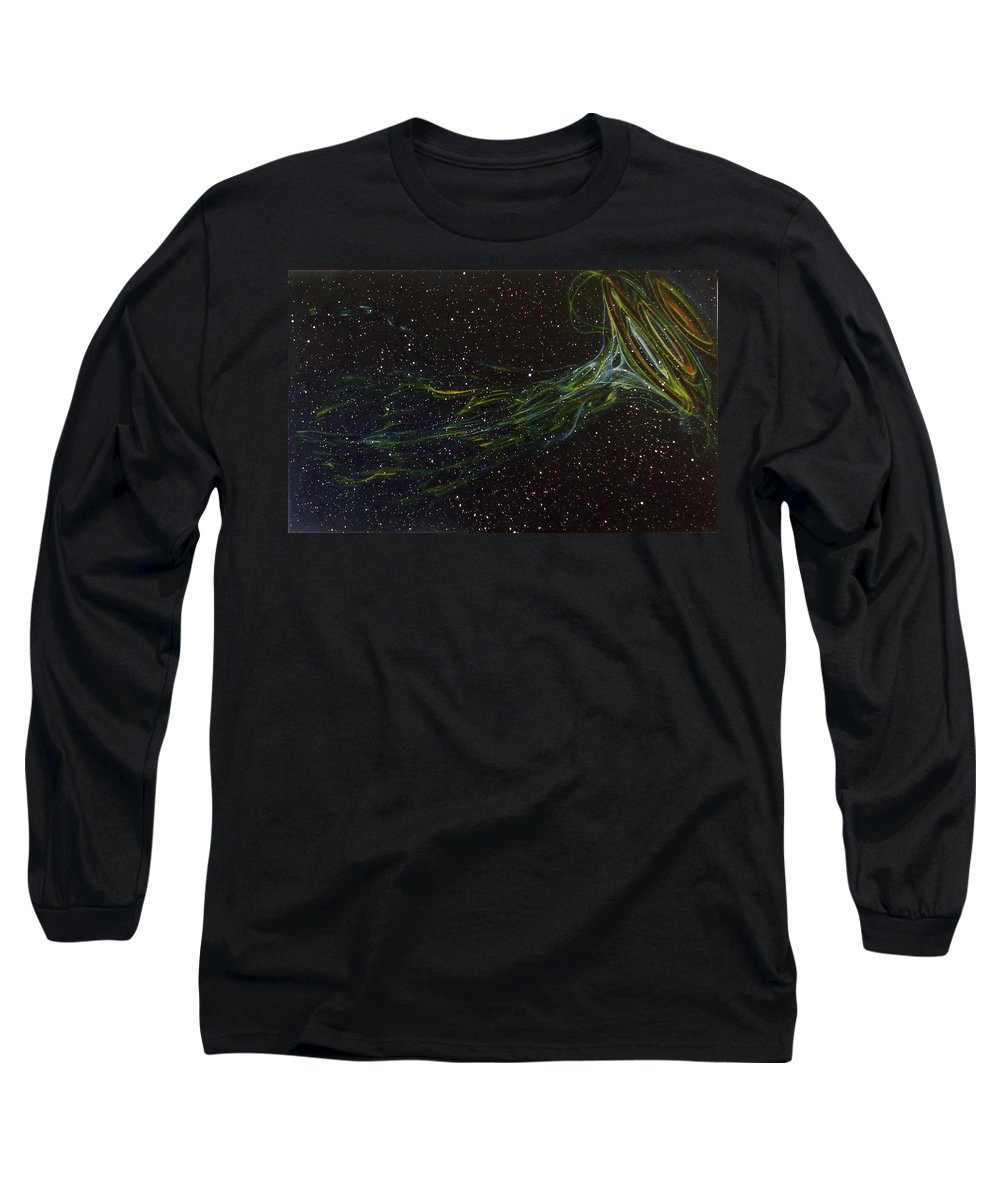 Abstract Long Sleeve T-Shirt featuring the painting Death Throes by Sean Connolly