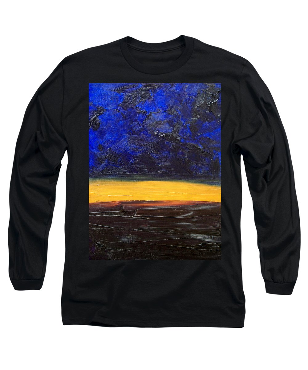 Landscape Long Sleeve T-Shirt featuring the painting Desert Plains by Sergey Bezhinets