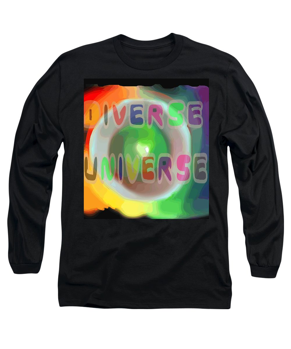 Diverse Long Sleeve T-Shirt featuring the painting Diverse Universe by Pharris Art