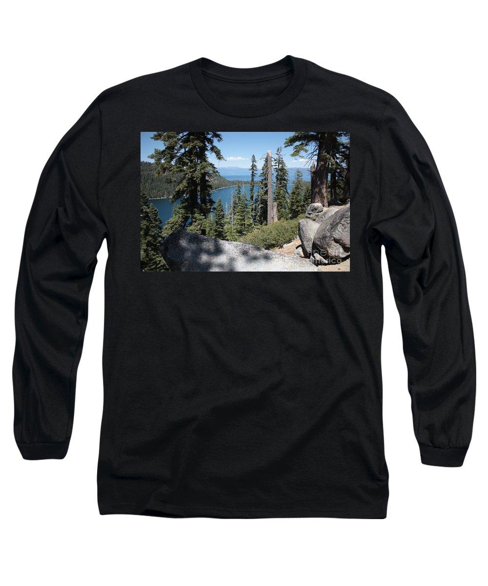 Emerald Bay Long Sleeve T-Shirt featuring the photograph Emerald Bay Vista by Carol Groenen