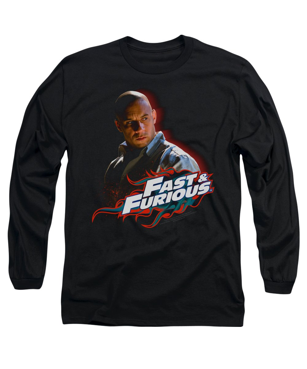 Fast And The Furious Long Sleeve T-Shirt featuring the digital art Fast And Furious - Toretto by Brand A