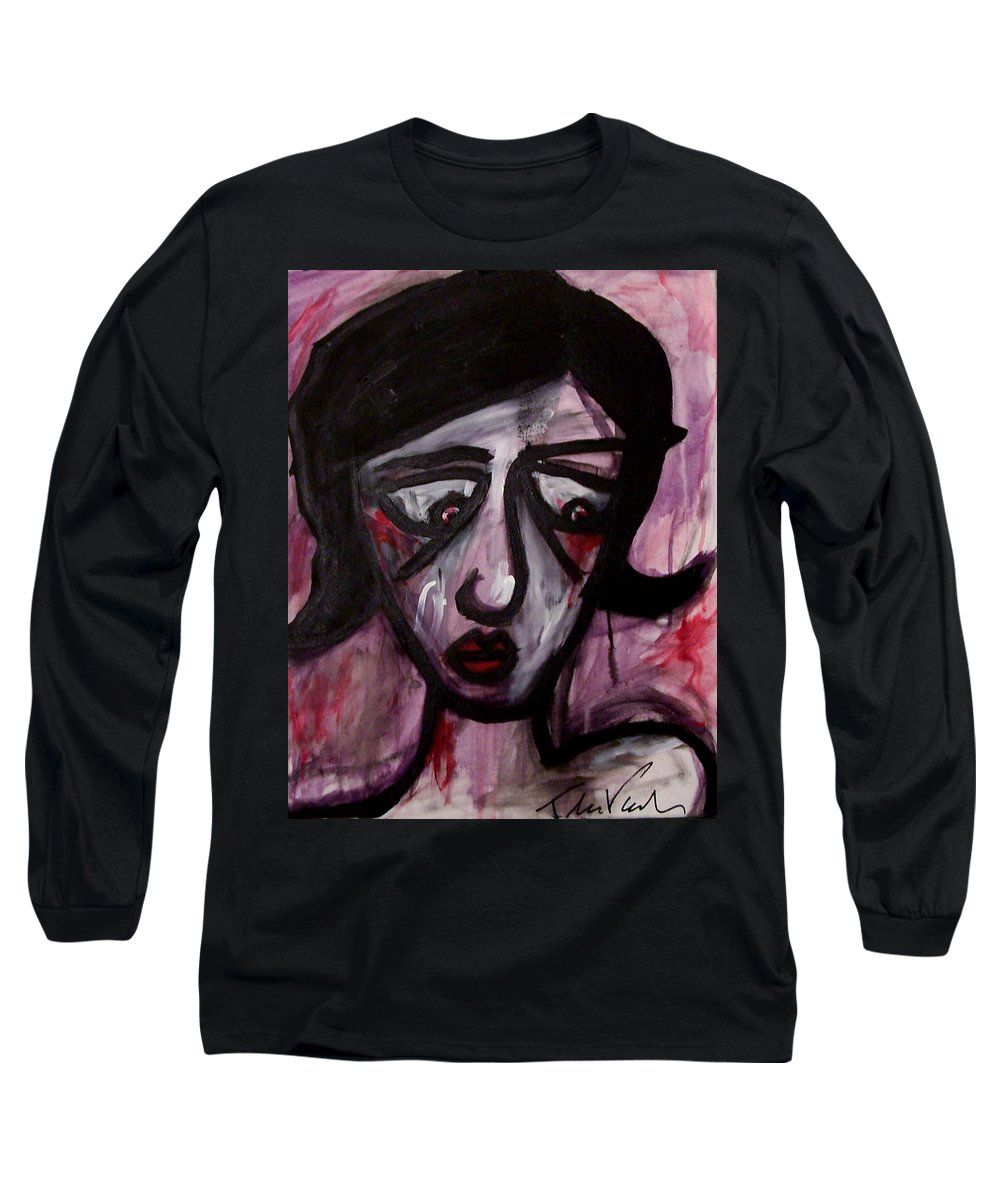 Portait Long Sleeve T-Shirt featuring the painting Finals by Thomas Valentine