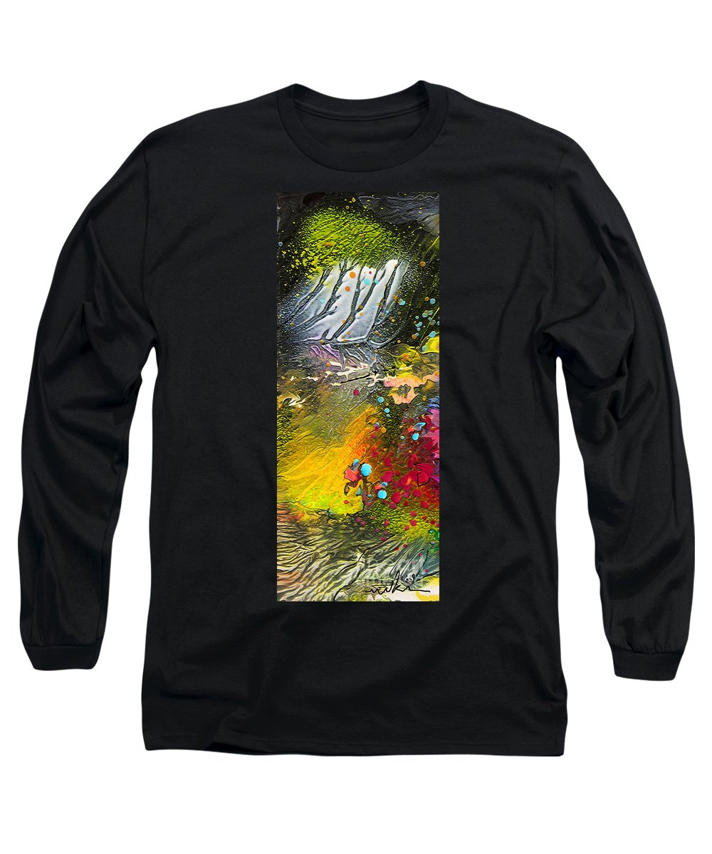 Miki Long Sleeve T-Shirt featuring the painting First Light by Miki De Goodaboom