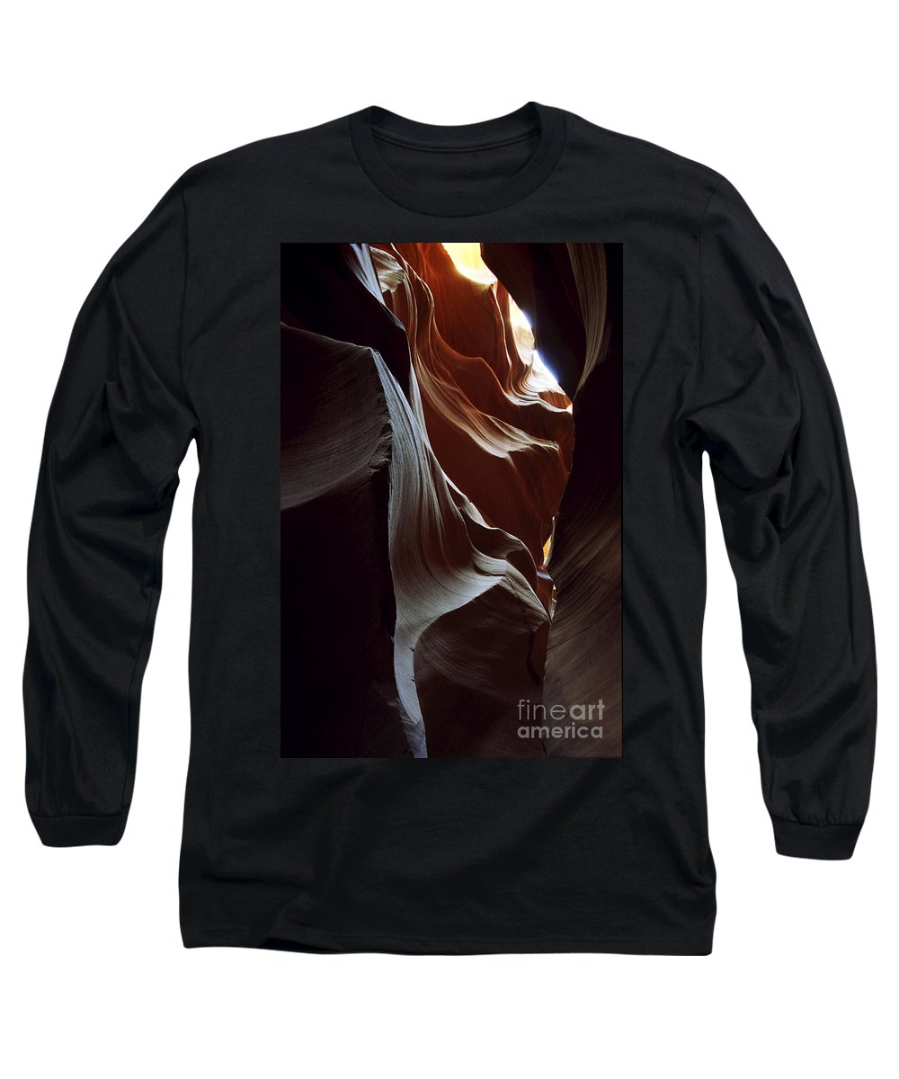 Antelope Canyon Long Sleeve T-Shirt featuring the photograph Follow The Light by Kathy McClure