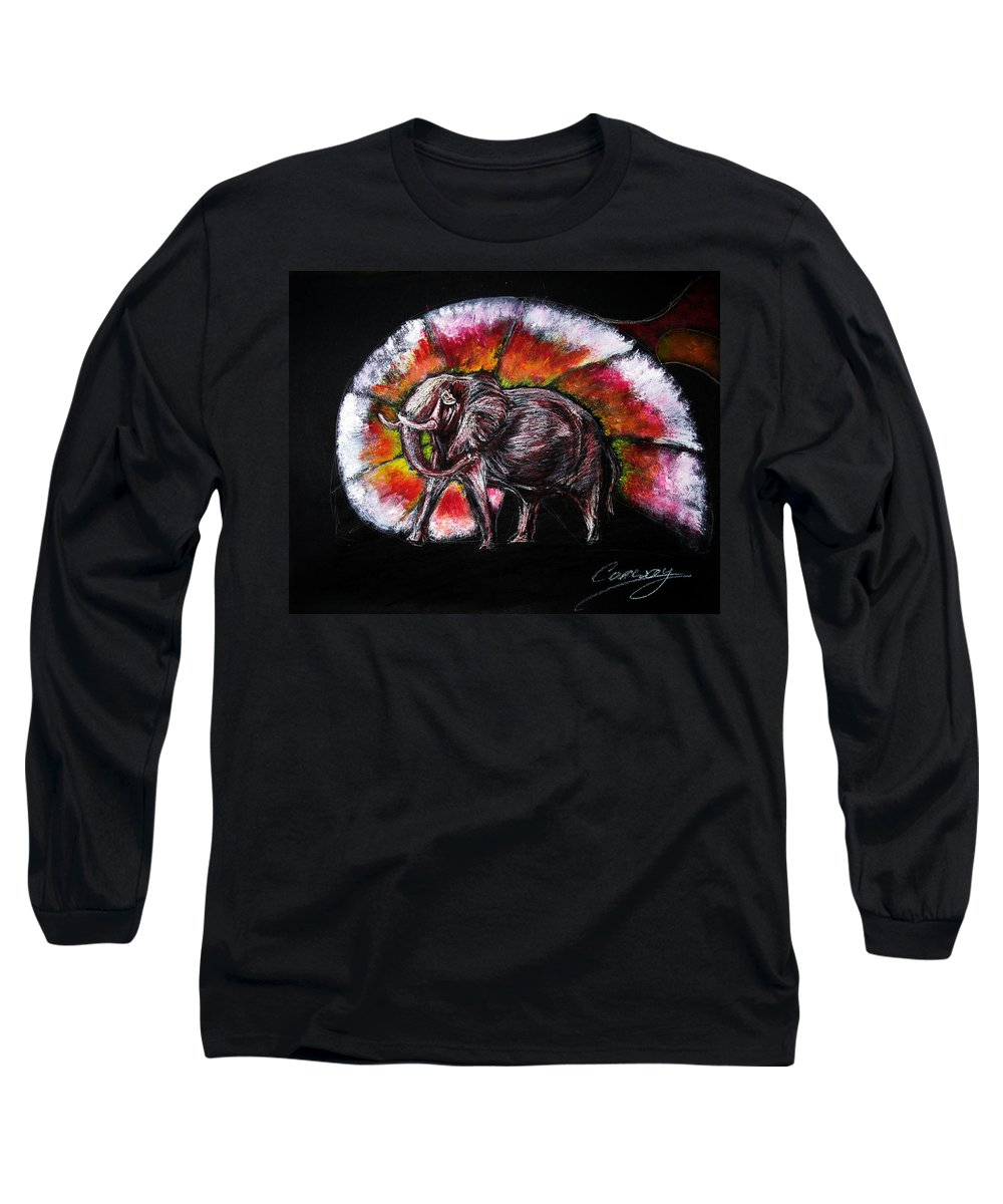 Wild Long Sleeve T-Shirt featuring the drawing Grand Designs For Life On Earth by Tom Conway