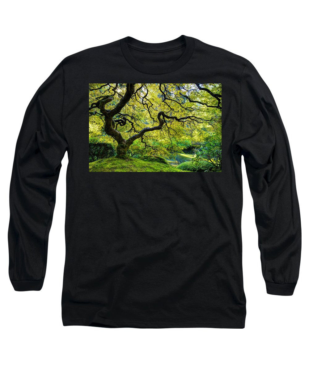 Maple Long Sleeve T-Shirt featuring the photograph Green by Dustin LeFevre