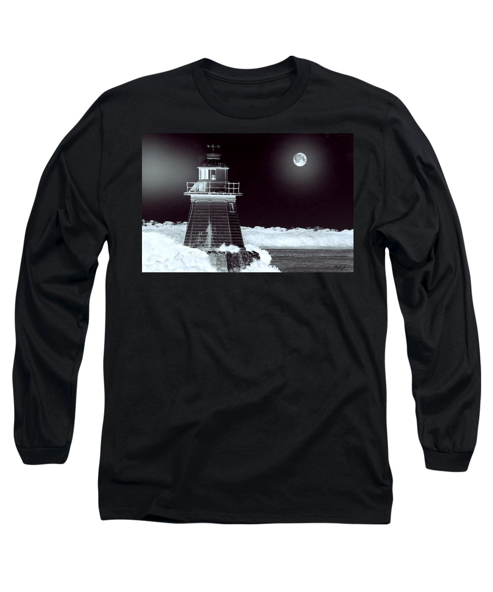 Landscapes Long Sleeve T-Shirt featuring the photograph Guiding Lights by Holly Kempe