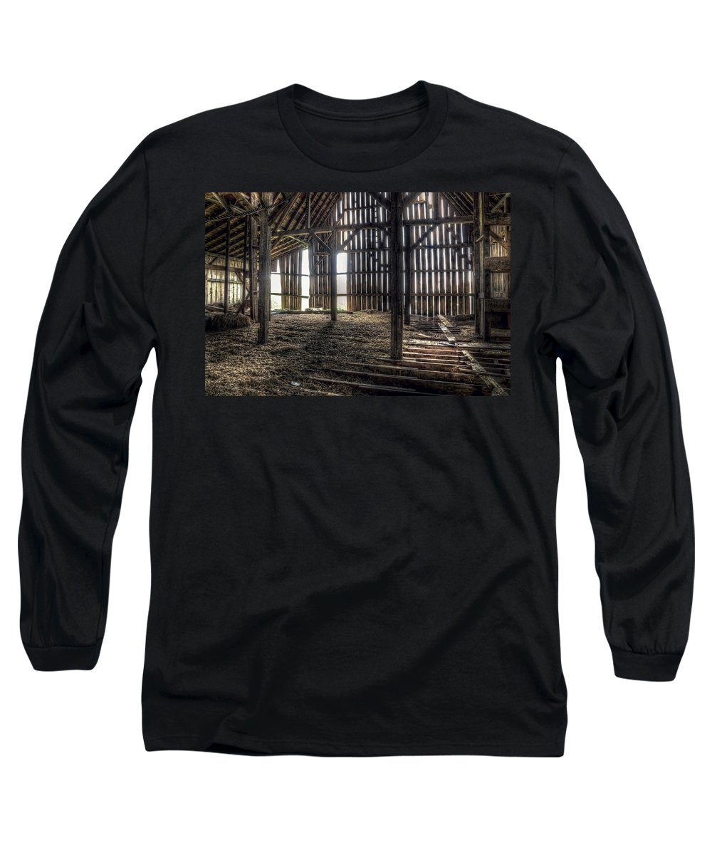 Barn Long Sleeve T-Shirt featuring the photograph Hay Loft 2 by Scott Norris