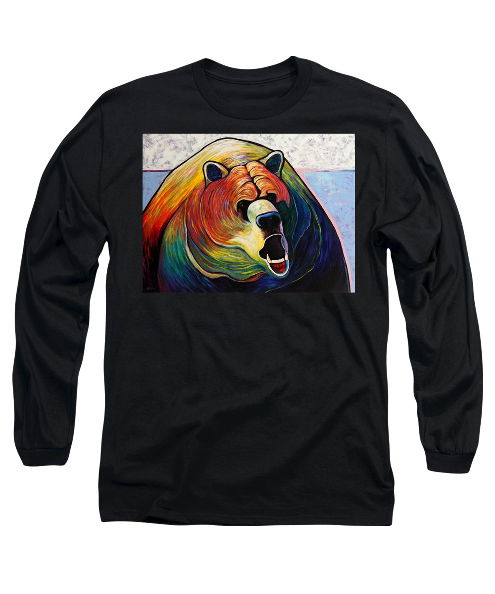 Wildlife Long Sleeve T-Shirt featuring the painting He Who Greets With Fire by Joe Triano
